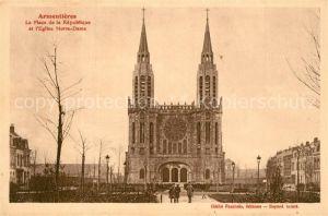 Armentieres Place de la Republique Eglise Notre Dame Armentieres