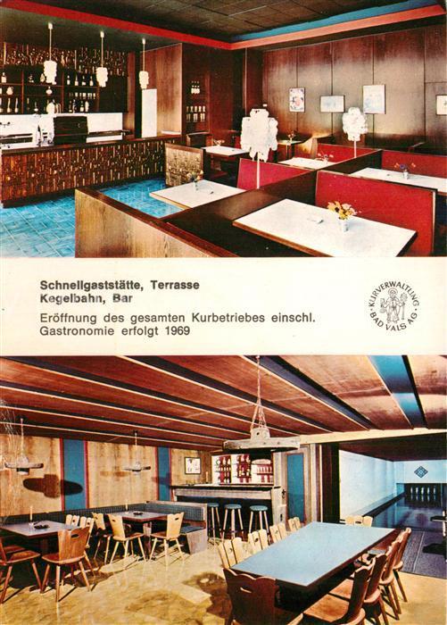AK / Ansichtskarte Bad_Vals_GR Schnellgaststaette Bar Kegelbahn Bad_Vals_GR