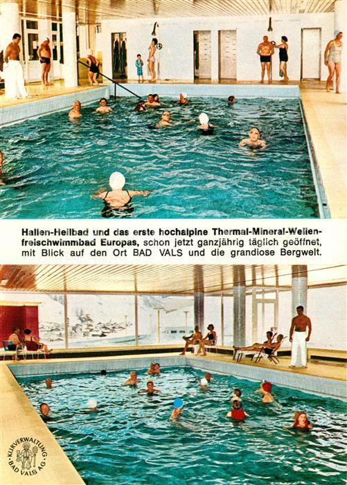 AK / Ansichtskarte Bad_Vals_GR Hallenheilbad Thermalbad Bad_Vals_GR