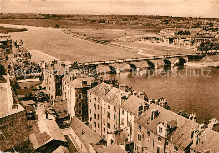 Angers La Maine et pont de la Basse Chaine Angers