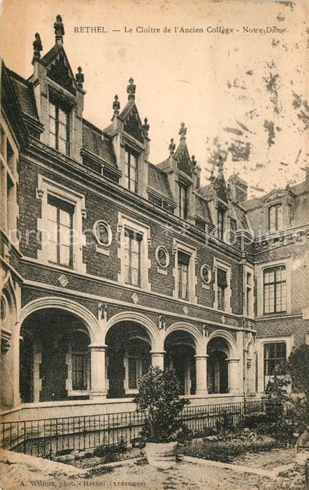 Rethel_Ardennes Le Cloitre de l'Ancien College Notre Dame Rethel Ardennes
