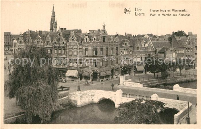 Lier Hooge brug en Vischmarkt Lier