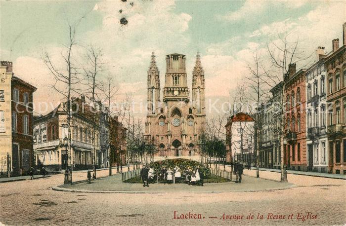 Laeken Avenue de la Reine et Eglise Laeken