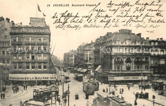 Bruxelles_Bruessel Boulevard Anspach Bruxelles_Bruessel