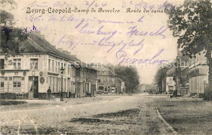 Beverloo Bourg Leopold Camp de Beverloo Route du canal Beverloo