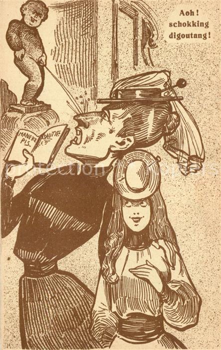 Bruessel_Bruxelles Maneken Pis Karikatur Bruessel_Bruxelles