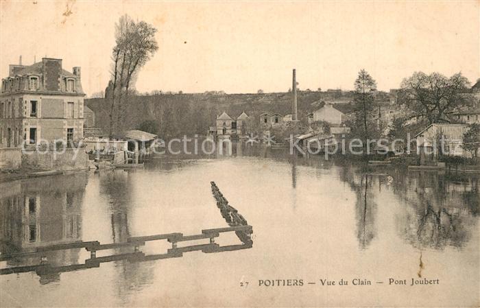 Poitiers_Vienne Vue du Clain Pont Joubert Poitiers Vienne