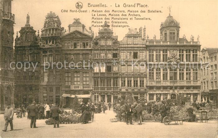 Bruxelles_Bruessel La Grand Place Maison des Merciers Maison des Bateliers Bruxelles_Bruessel