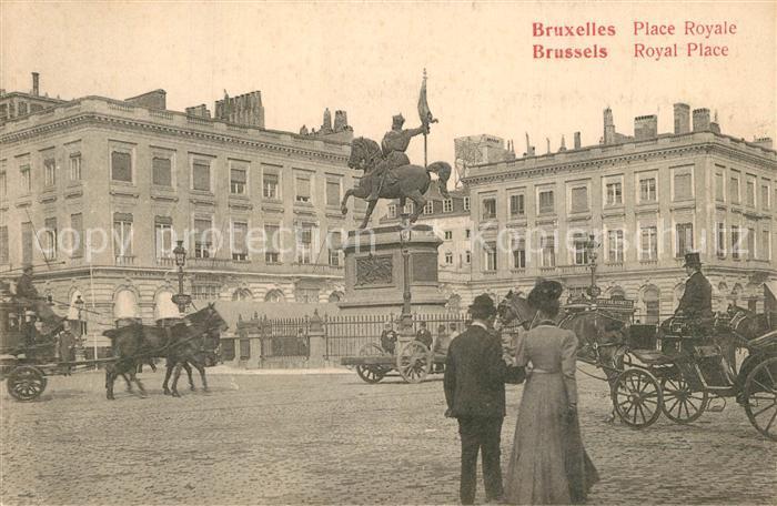 Bruxelles_Bruessel Place Royale Bruxelles_Bruessel