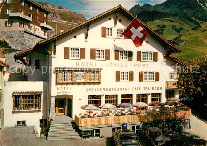 AK / Ansichtskarte Andermatt Hotel Drei Koenige und Post Andermatt