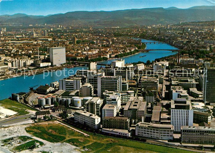 AK / Ansichtskarte Basel_BS Fliegeraufnahme Basel_BS