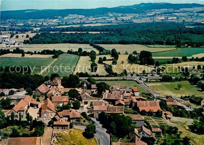 Taize_Saone et Loire Village avec eglise romane Vue aerienne Taize Saone et Loire 0