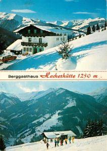 AK / Ansichtskarte Viehhofen_Salzburg Berggasthaus Hecherhuette Wintersport Alpen Viehhofen Salzburg