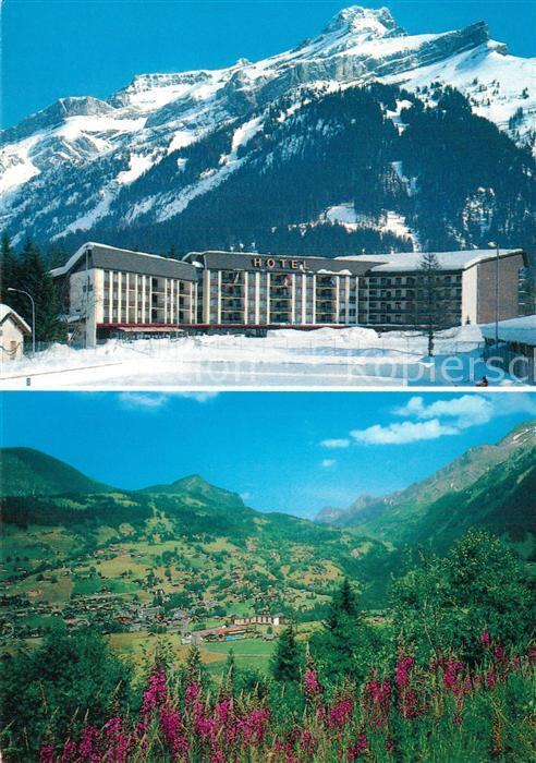 AK / Ansichtskarte Les_Diablerets Eurohotel Landschaftspanorama Alpen Les_Diablerets