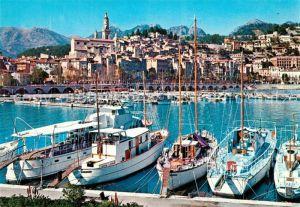 Menton_Alpes_Maritimes Le port et la vieille ville Yachthafen Menton_Alpes_Maritimes