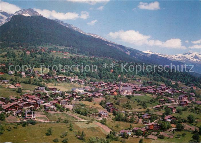 AK / Ansichtskarte Arbaz Vue aerienne sur le Sex Rouge Arbaz