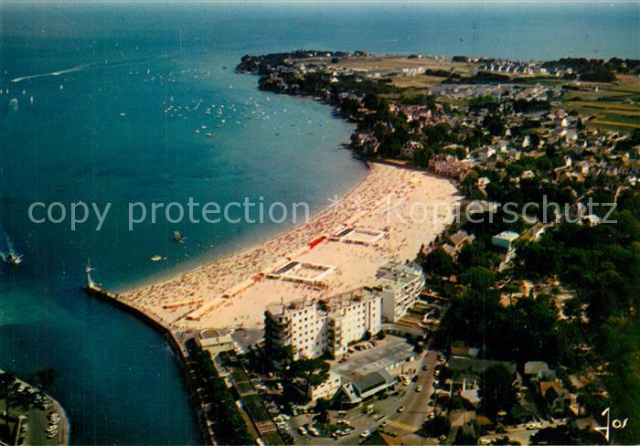 Le_Pouliguen Entree du port et la plage Pointe de Pen Chateau vue aerienne Le_Pouliguen