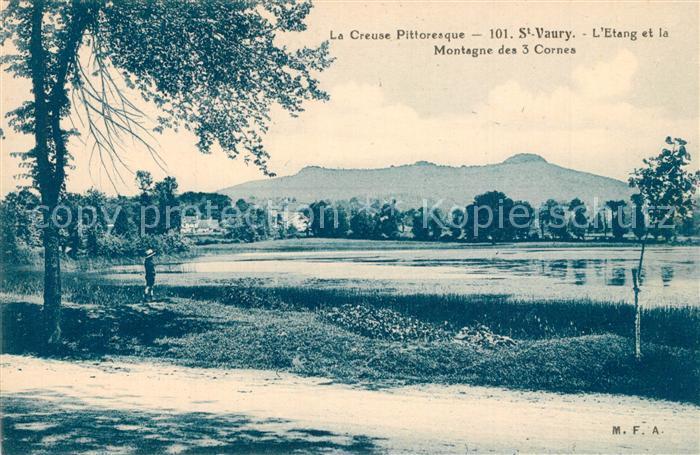 Saint Vaury Etang et la Montagne des 3 Cornes Saint Vaury
