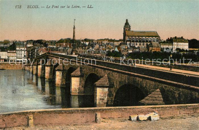 Blois_Loir_et_Cher Pont sur la Loire Blois_Loir_et_Cher