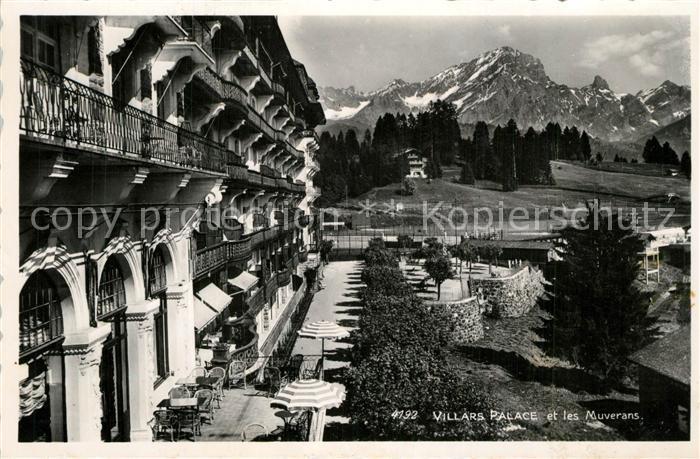 AK / Ansichtskarte Lausanne_VD Villars Palace et les Muverans Lausanne VD