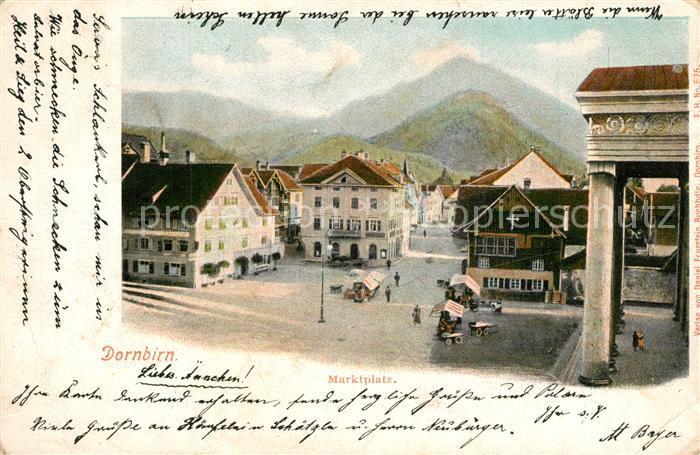 AK / Ansichtskarte Dornbirn_Vorarlberg Marktplatz Dornbirn Vorarlberg