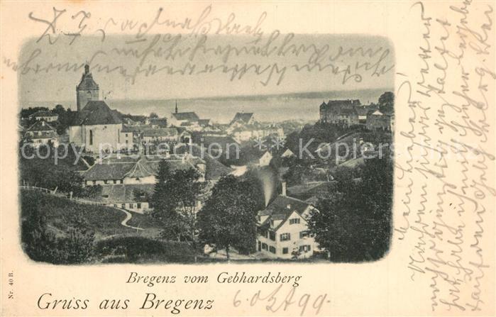 AK / Ansichtskarte Bregenz_Bodensee Blick vom Gebhardsberg Bregenz Bodensee