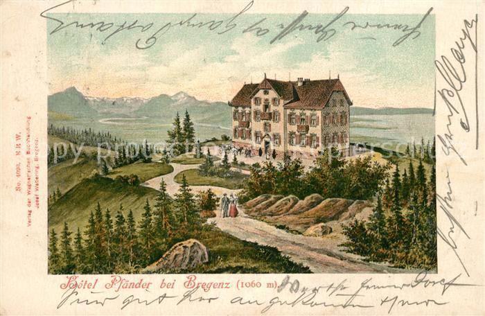 AK / Ansichtskarte Bregenz_Bodensee Hotel Pfaender Bregenz Bodensee