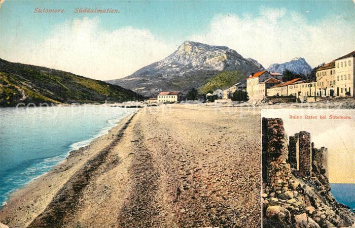 Sutomore_Dalmatien Strand Ruine Ratec  Sutomore Dalmatien