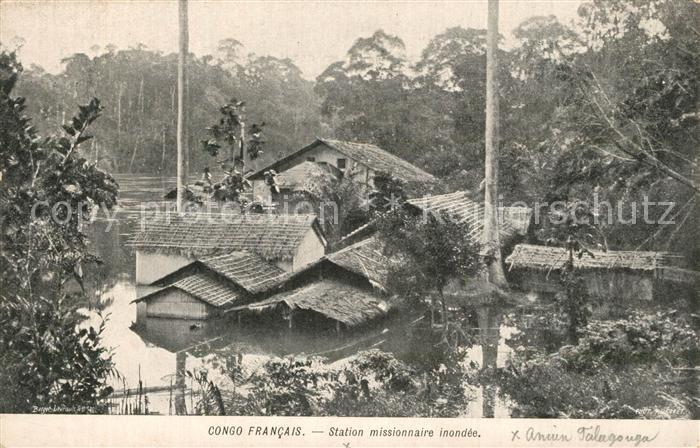 Congo_Francais Station missionnaire nondee Congo Francais