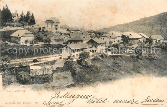 AK / Ansichtskarte Ballaigues Panorama Ballaigues