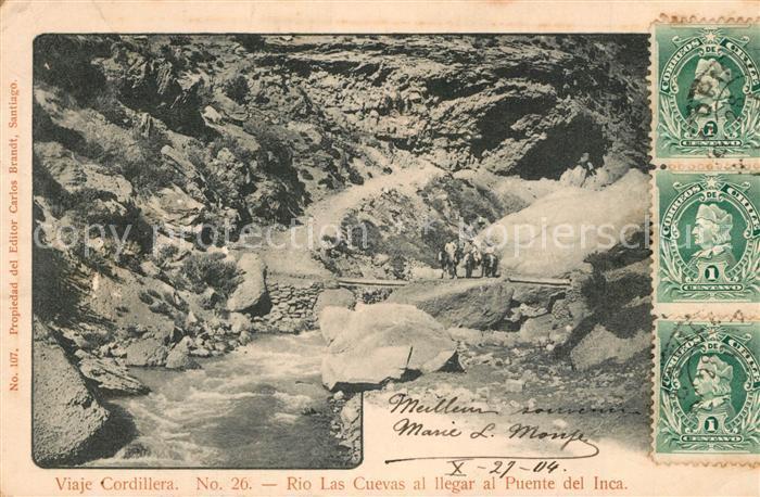 Cordillera Rio Las Cuevas al llegar al Puente del Inca Cordillera