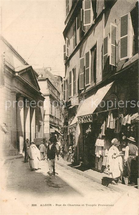 Alger_Algerien Rue de Chartres et Temple Protestant Alger Algerien