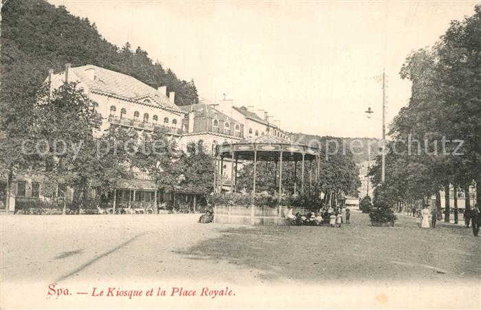 Spa_Liege Le Kiosque et la Place Royale Spa_Liege