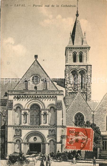 Laval_Mayenne Portail sud de la Cathedrale de la Sainte Trinite Laval Mayenne