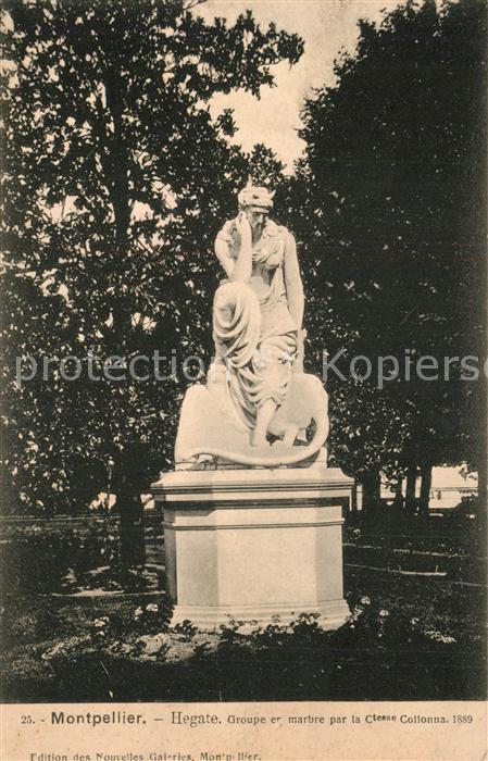 Montpellier_Herault Hegate Groupe en marbre Monument Statue Montpellier Herault