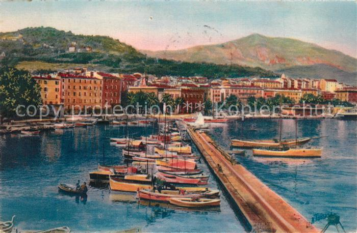 Ajaccio Le Port Dessin Kuenstlerkarte Ajaccio