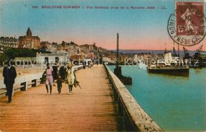 Boulogne sur Mer Vue generale prise de la Nouvelle Jetee Bateaux Boulogne sur Mer