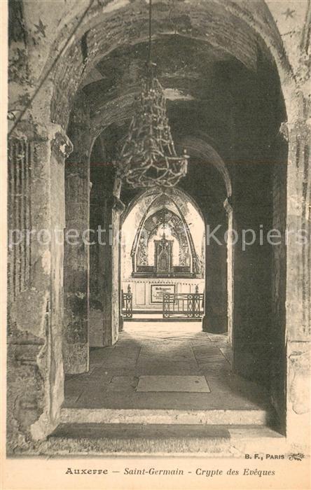 Auxerre Eglise Saint Germain Crypte des Eveques Auxerre