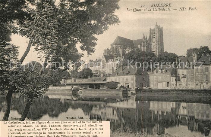 Auxerre Les Quais et la Cathedrale Auxerre