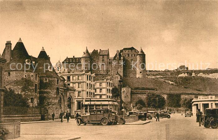 Dieppe_Seine Maritime Les Tourelles et le vieux Chateau Dieppe Seine Maritime