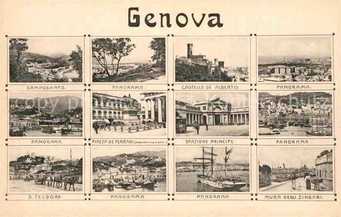 Genova_Genua_Liguria Camposanto Stazione Piazza de Ferrari S. Teodoro Mura degli Zingari Genova_Genua_Liguria