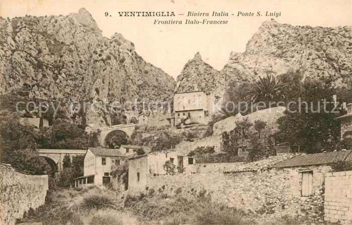 Ventimiglia_Liguria Ponte S. Luigi Frontiera Italo Francese