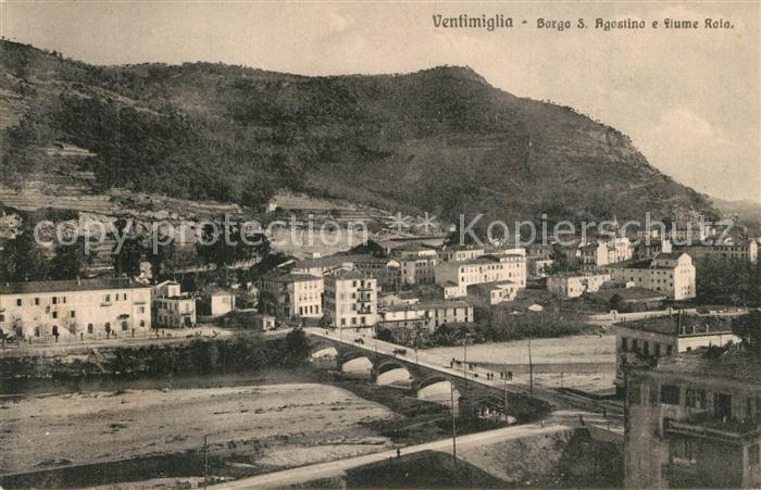 Ventimiglia_Liguria Borgo S. Agostino Fiume Roia
