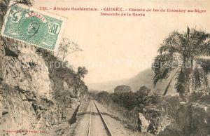 Guinee_Guinea Chemin de fer de Konakry au Niger Descente de la Santa Guinee Guinea