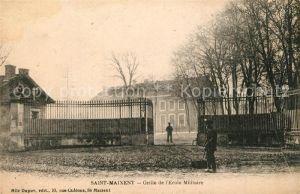 Saint Maixent_Sarthe Grille de l'Ecole Militaire Saint Maixent Sarthe