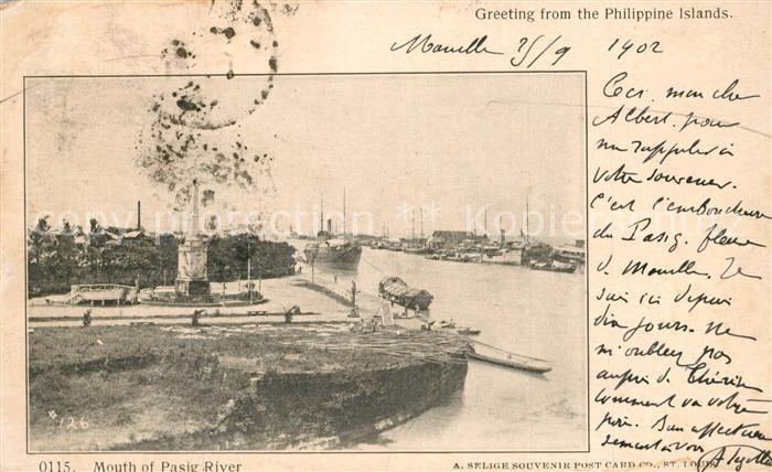 Manila_Philippines Mouth of Pasig River