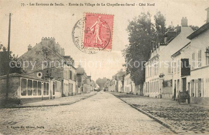 Senlis_Oise Entree du Village de La Chapelle en Serval Senlis Oise
