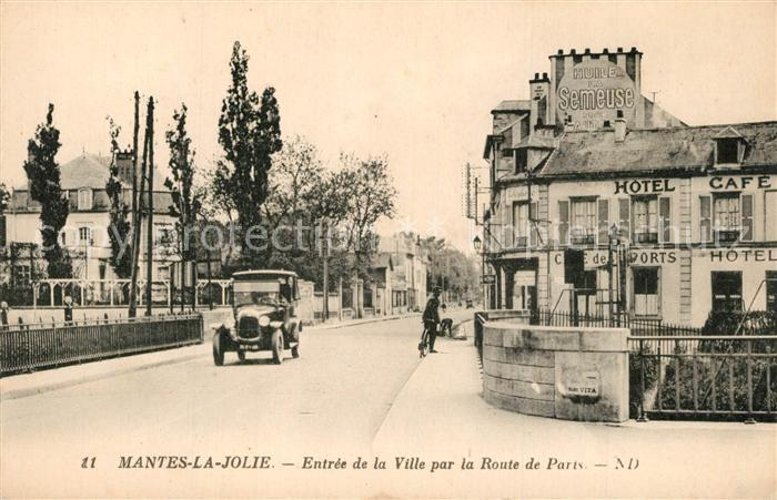 Mantes la Jolie Entree de la Ville par la Route de Paris Mantes la Jolie