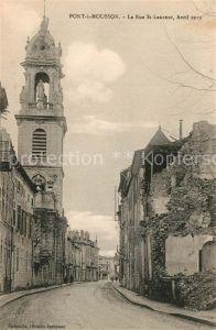 Pont a Mousson La Rue St Laurent Avril 1919 Pont a Mousson