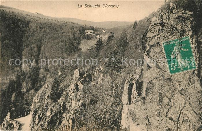 La_Schlucht Landschaftspanorama Vogesen Felsen La_Schlucht
